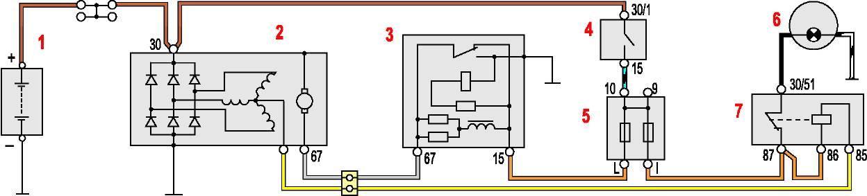 как подключить реле РС 702 на таврии