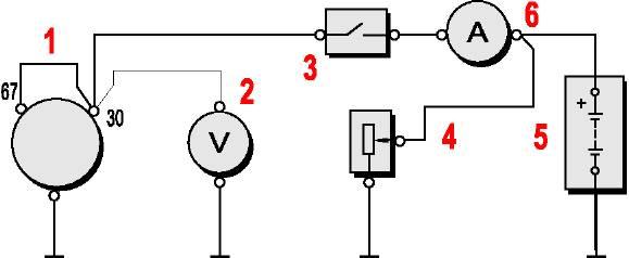 Схема соединений генератора на
