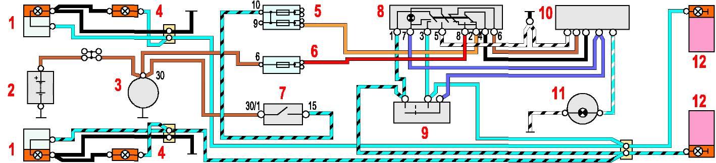 Схема системы аварийной