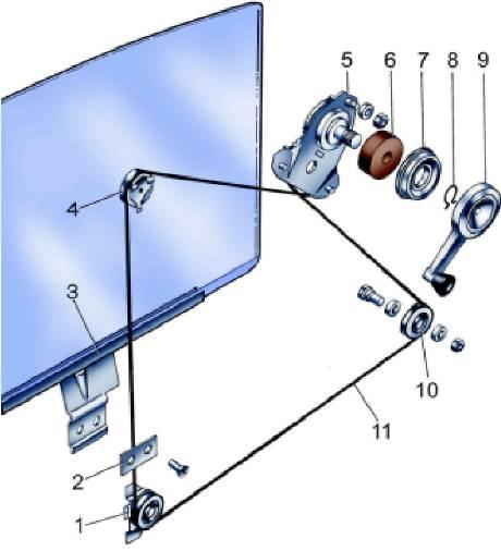 Схема запасовки стеклоподъемника ваз 2107